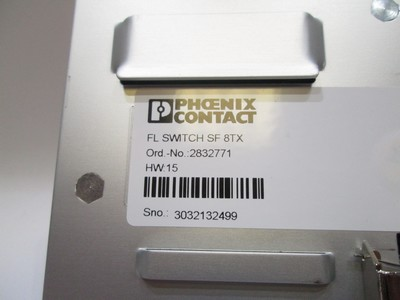 phoenix contact fl switch sf 8tx industrial ethernet switch gr 1016 4 ebay. Black Bedroom Furniture Sets. Home Design Ideas