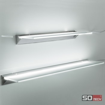 so-tech sotech led leuchtregal sara glasregal glasbodenleuchte ... - Küchenregal Mit Beleuchtung
