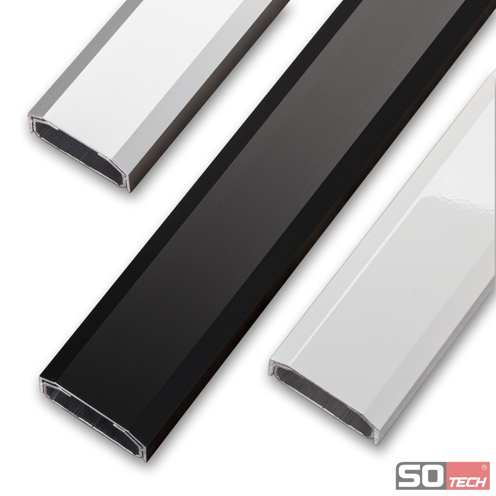 kabelkanal sch co aluminium wei schwarz exoliert. Black Bedroom Furniture Sets. Home Design Ideas
