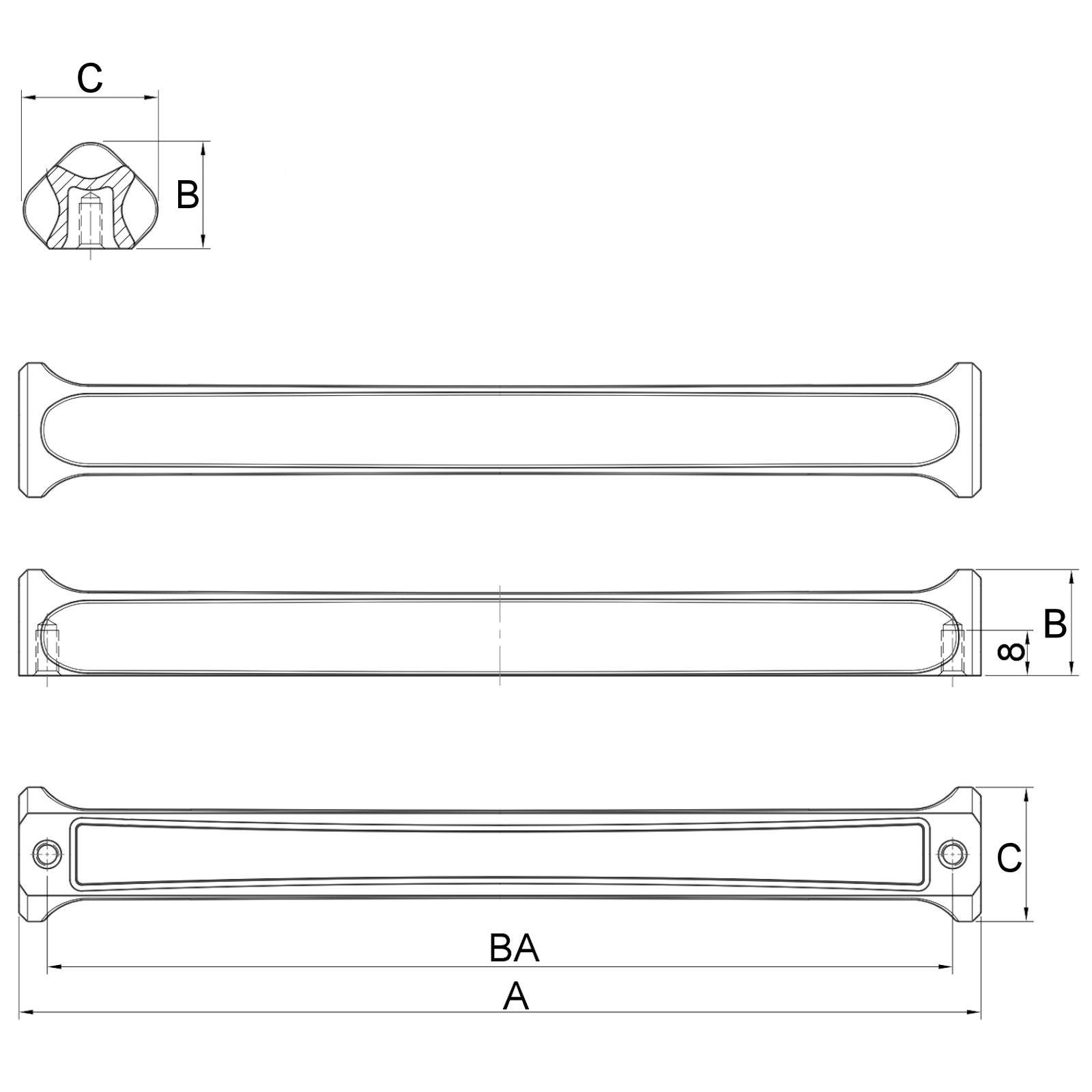 Profilleiste BUTO Möbelgriff Schubkastengriff Türgriff Griff von JUNKER Design