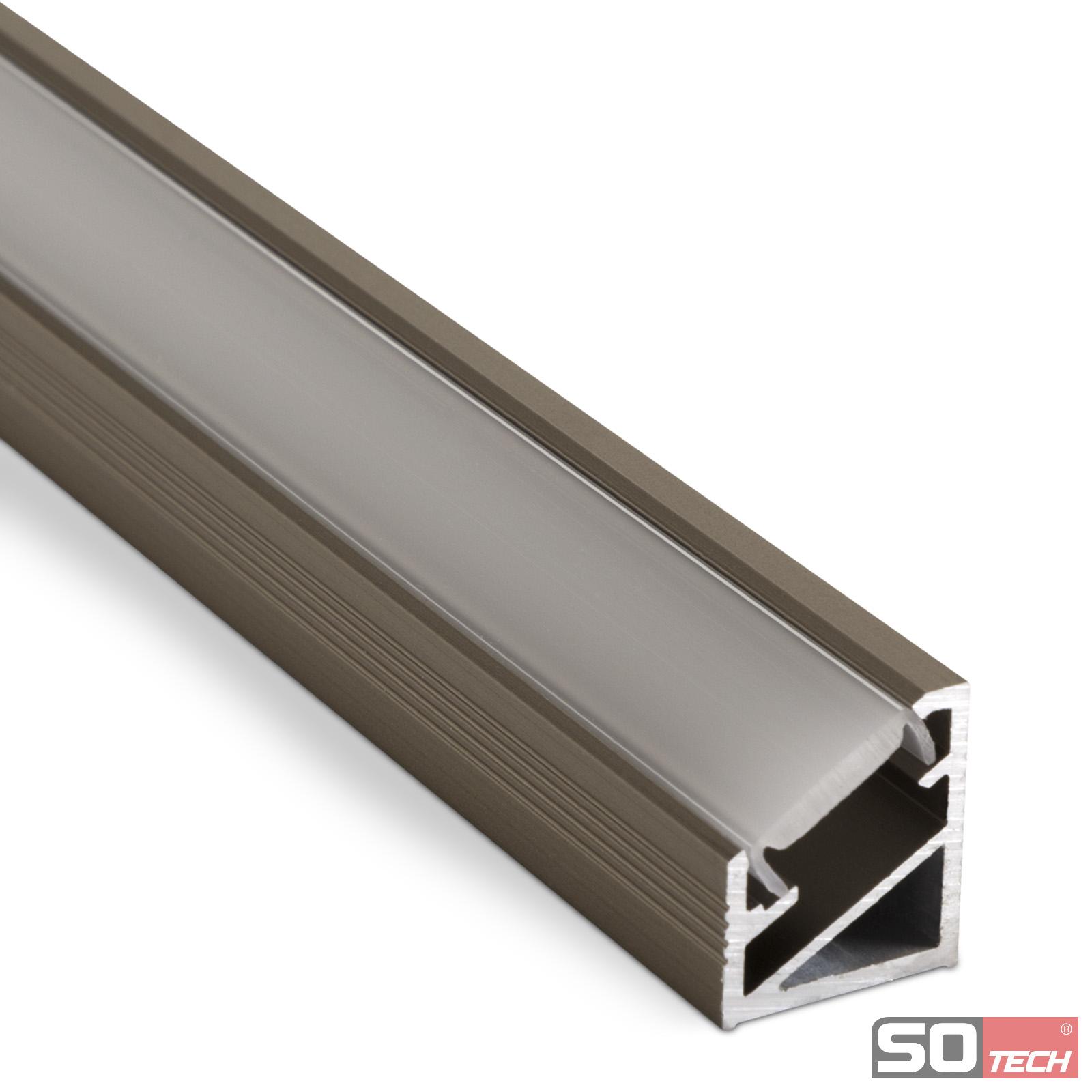 Super LED Profil 66 Profilleiste Profil Set geschlossen Kabeldurchlass OU67