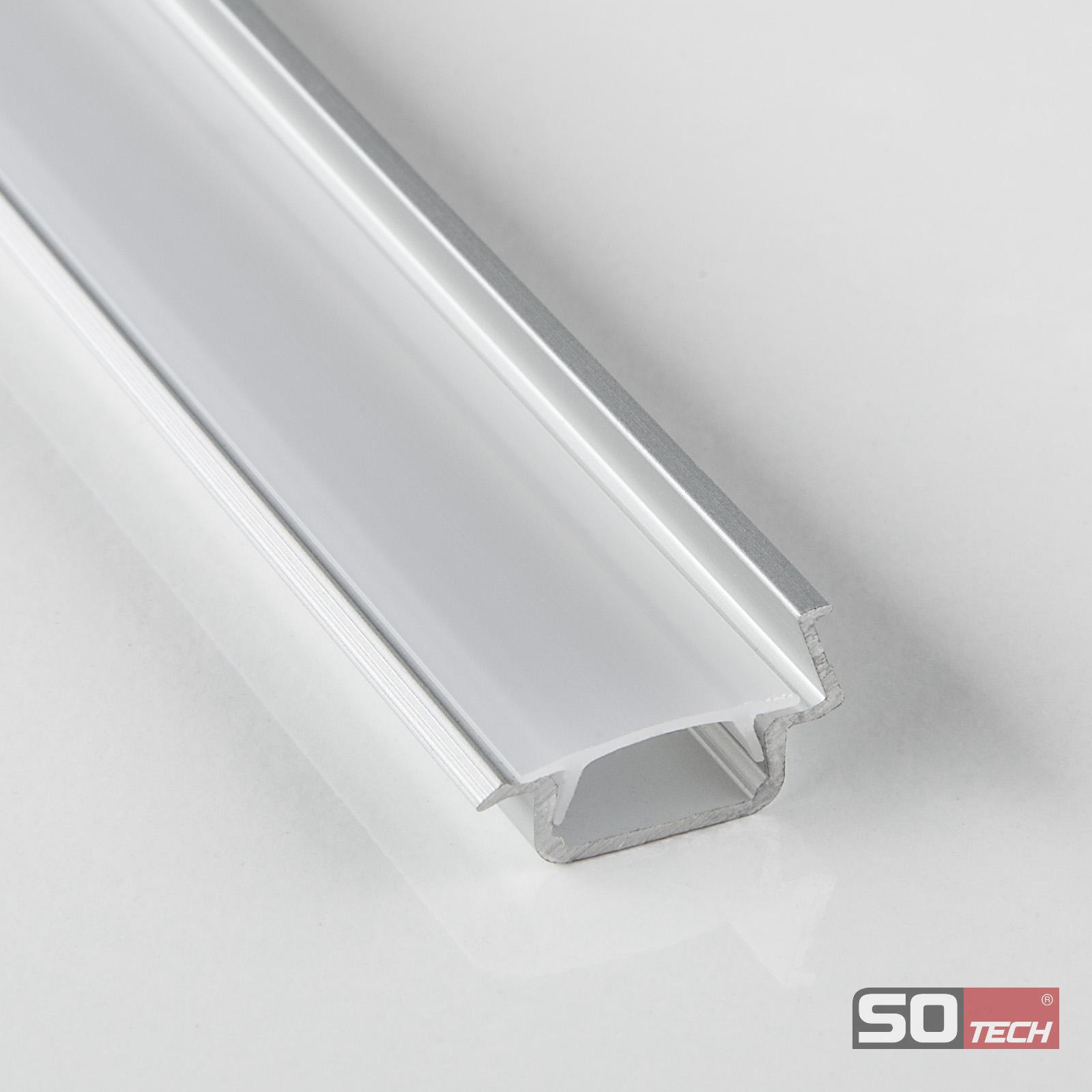 LED 30° Winkelprofil-88 opal 2 m für LED Streifen - so-handel.de