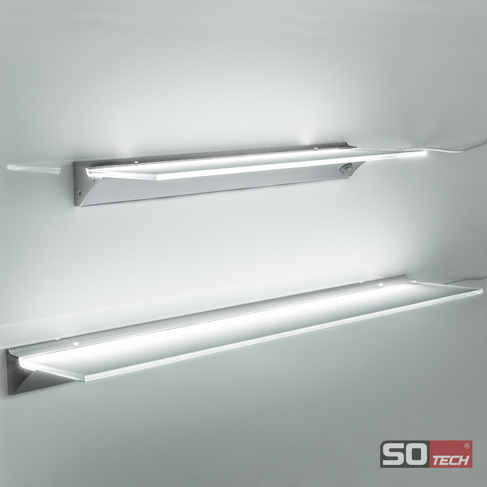 SO-TECH SOTECH LED Leuchtregal SARA Glasregal Glasbodenleuchte JOICE ...