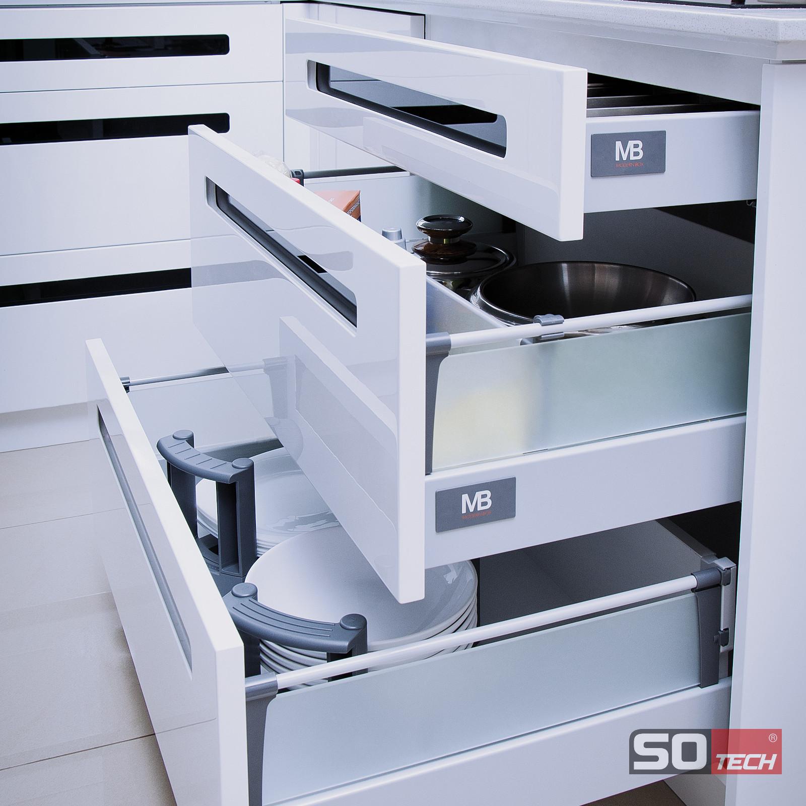 SO-TECH® Smart Box GRAU Schubladensystem Schublade Schubkasten Schubkästen