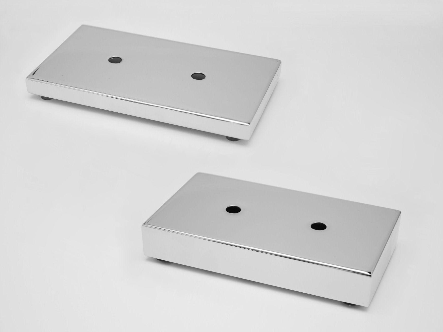 Möbelfüße Metall Eckig.Möbelfuß Möbelfüße Flach Chrom 180 X 100 Mm So Handel De