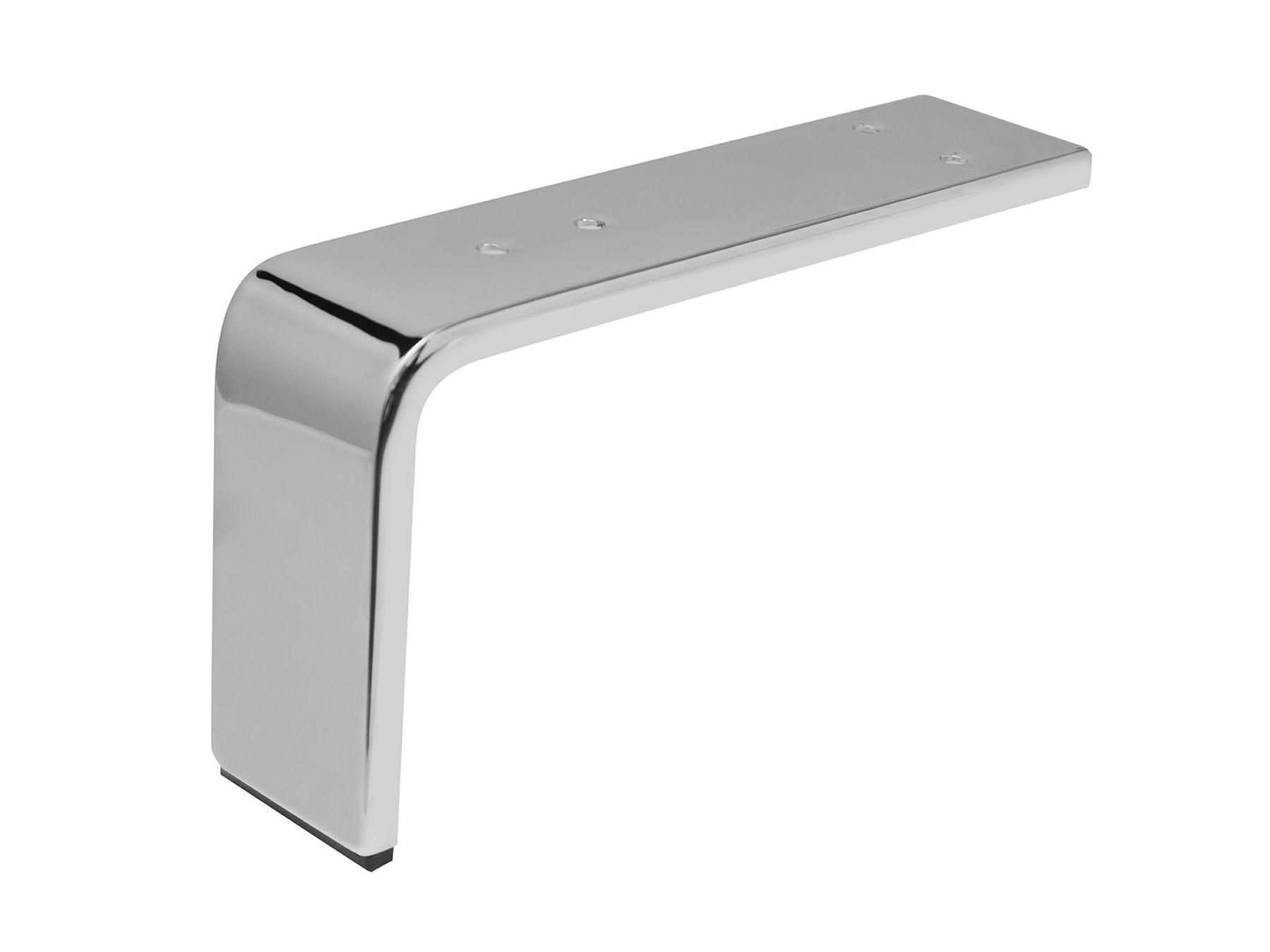 Möbelfüße Metall Eckig.Möbelfuß Möbelfüße Chrom 130 X 235 X 60 Mm