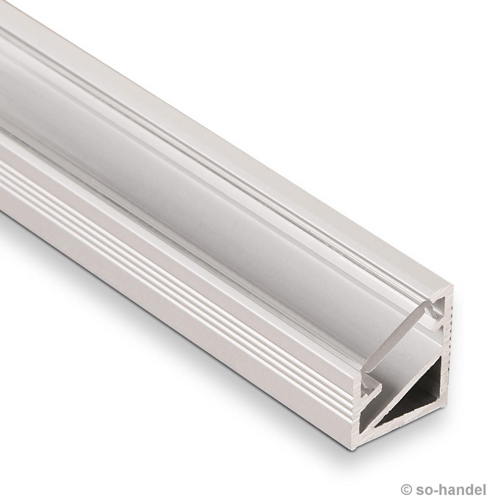 led profil 66 alu eloxiert klar eckprofil eck profil aluprofil aluminiumprofil profilschiene. Black Bedroom Furniture Sets. Home Design Ideas