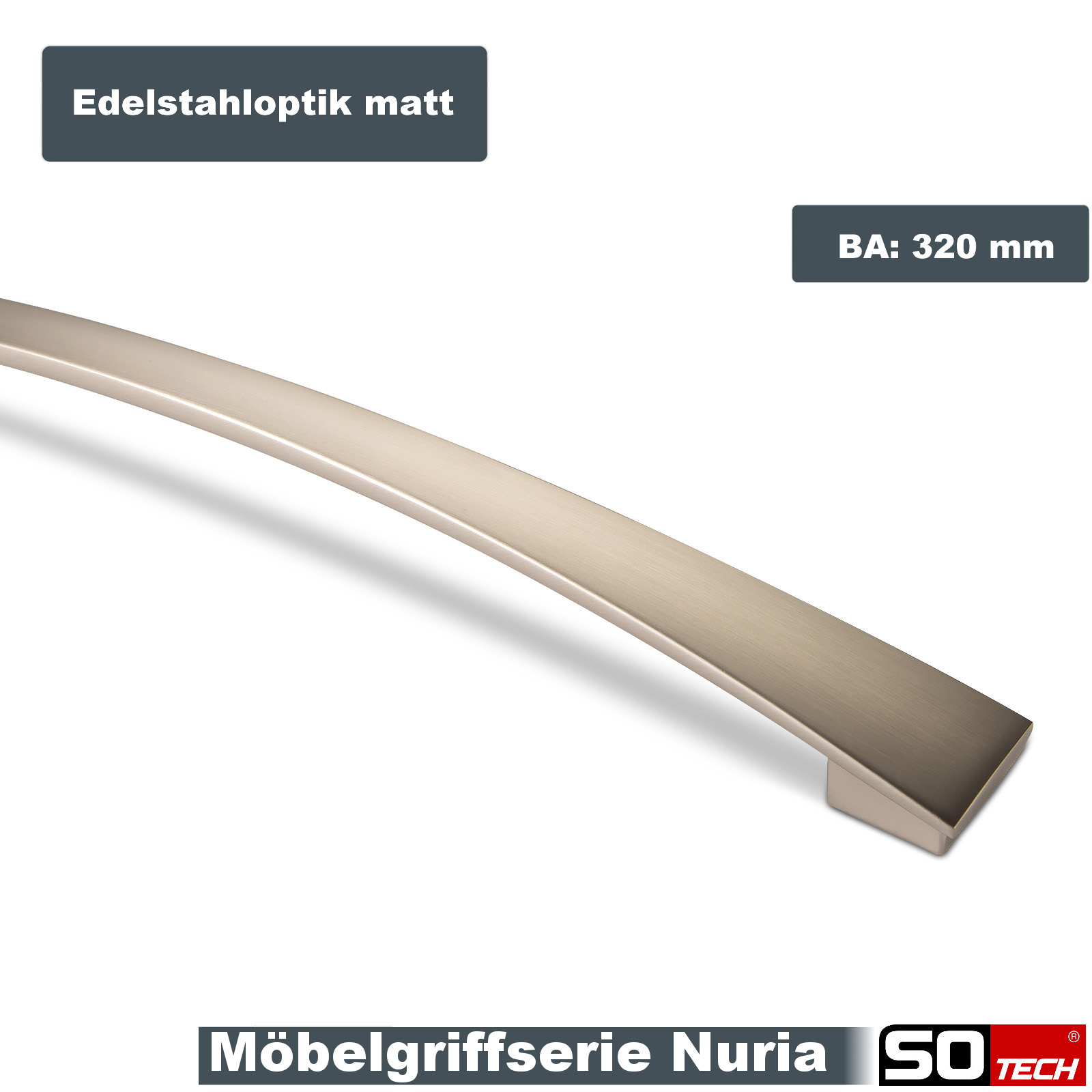 320mm chrom schwarz Möbelgriffe Küchengriffe Schrankgriffe Möbelknöpfe BA 160 o