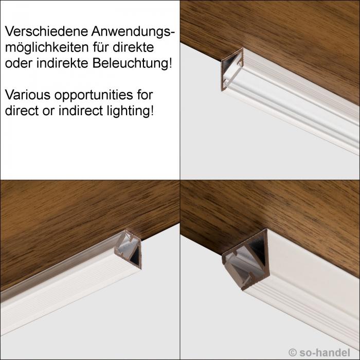 led profil 66 schwarz opal eckprofil eck profil aluprofil. Black Bedroom Furniture Sets. Home Design Ideas