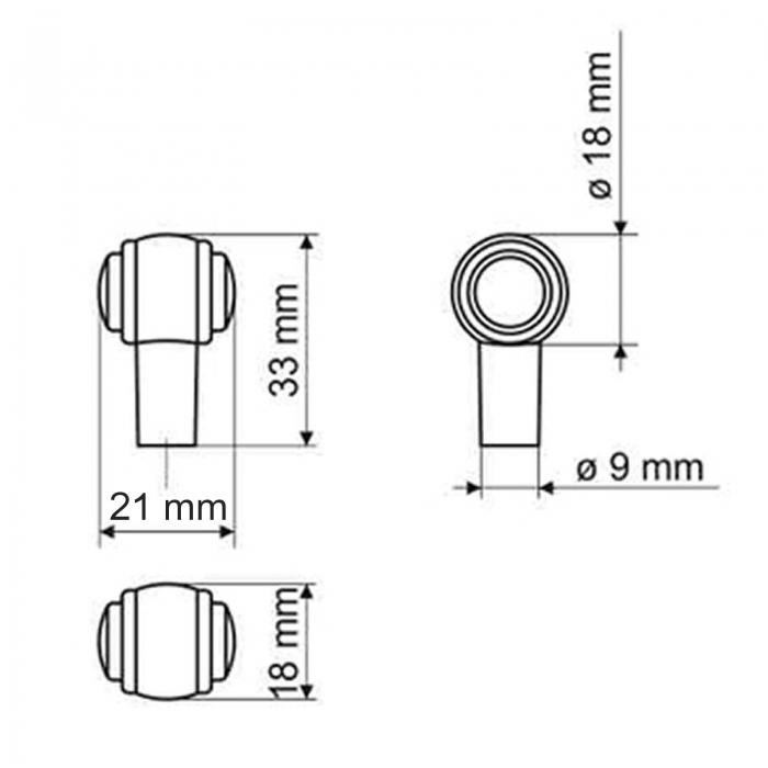 SO-TECH/® M/öbelgriff Stilgriff Althea Altmessingoptik BA 128 mm