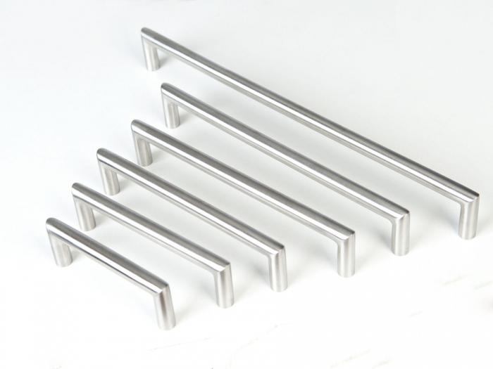 SO-TECH/® M/öbelgriff Schubladengriff E11 echt Edelstahlrohr BA 96 mm